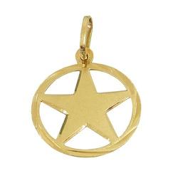 Pingente de Estrela em Ouro 18K - JPGR000221-0 - RDJ JÓIAS