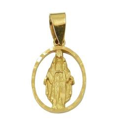 Medalha de Nossa Senhora das Graças em Ouro 18K - ... - RDJ JÓIAS