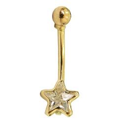 Piercing de Estrela em Ouro 18K com Zircônia - J12... - RDJ JÓIAS