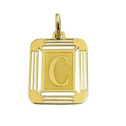 Pingente Medalha Letra C em Ouro 18K - J14500444 - RDJ JÓIAS