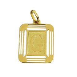 Pingente Medalha em Ouro 18K Letra G - J14500444 - RDJ JÓIAS
