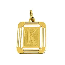 Pingente Letra K Ouro 18K 750 - J14500444 - RDJ JÓIAS