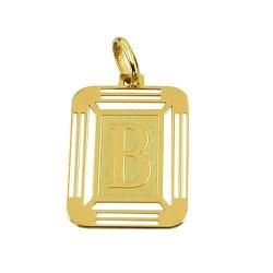 Pingente de Ouro 18K com Letra B - J14500444 - RDJ JÓIAS