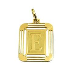 Pingente Letra E em Ouro 18K - J14500444 - RDJ JÓIAS