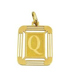 Pingente Letra Q Ouro 18K - J14500444 - RDJ JÓIAS