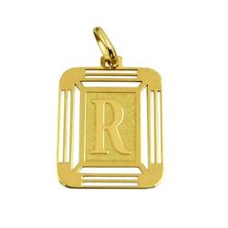 Pingente Letra R de Ouro 18K - J14500444 - RDJ JÓIAS