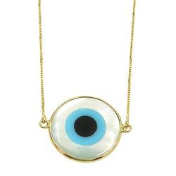 Gargantilha de Olho Grego em Ouro 18k - J13900291 - RDJ JÓIAS