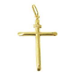 Crucifixo de ouro 18k - J03100123 - RDJ JÓIAS