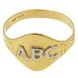 Anel ABC em Ouro 18K - JRD06401055 - RDJ JÓIAS