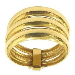 Anel Ouro 18K Três Fios - JRD06401030 - RDJ JÓIAS