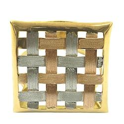 Anel em Ouro 18k Xadrez - J06100192 - RDJ JÓIAS