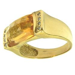 Anel em Ouro com Topázio Imperial e Brilhantes - J... - RDJ JÓIAS