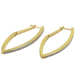 Brincos em Ouro Diamantados - J12700545 - RDJ JÓIAS