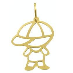 Pingente Menino em Ouro 18K G - J03100879 - RDJ JÓIAS