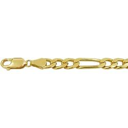 Pulseira de ouro Masculina Elo Fígaro - JP04800591... - RDJ JÓIAS