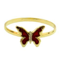 Anel de Borboleta em Ouro 18K Infantil - J00200191 - RDJ JÓIAS
