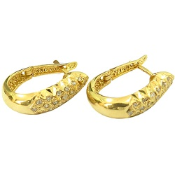 Brinco Diamantado em Ouro 18K com 38 Brilhantes - ... - RDJ JÓIAS