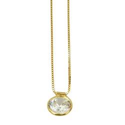 Ponto de Luz em Ouro 18K com Pedra de Zircônia - J... - RDJ JÓIAS