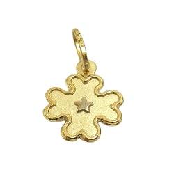 Pingente Trevo com Estrela Ouro 18K - J03100173 - RDJ JÓIAS