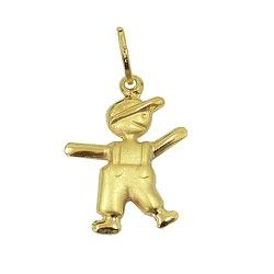 Pingente Menino em ouro 18k (0,750) - J03100472 - RDJ JÓIAS