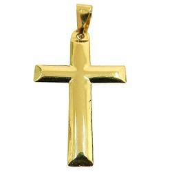 Pingente Religioso Cruz Lisa de Ouro 18K - J03100... - RDJ JÓIAS