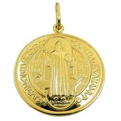 Medalha de São Bento em Ouro 18K GG - J03100839 - RDJ JÓIAS