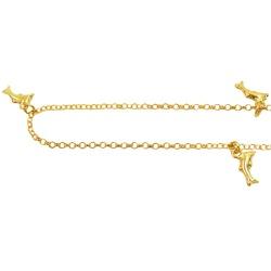 Tornozeleira de Golfinho Ouro 18K - J05800154 - RDJ JÓIAS
