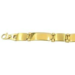Pulseira Masculina de Ouro 18K 21cm - J0610174323- - RDJ JÓIAS