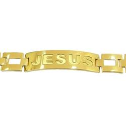 Pulseira Masculina Jesus em Ouro 18K - J0620063626... - RDJ JÓIAS