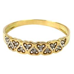 Anel de Corações em Ouro 18K com Zirconia - J06201... - RDJ JÓIAS