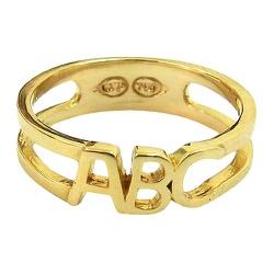 Anel Infantil ABC em Ouro 18K Vazado - J07600833 - RDJ JÓIAS