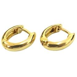 Argola Click Oval em Ouro 18K Polida - J07600978 - RDJ JÓIAS