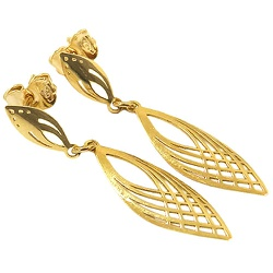Brincos de Ouro 18K 750 Vazados - J10801718 - RDJ JÓIAS
