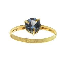 Anel Baby de Ouro 18K com Pedra Azul - J11000225 - RDJ JÓIAS