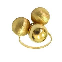 Anel de Ouro 18K Feminino com Bolinhas - J12700471 - RDJ JÓIAS