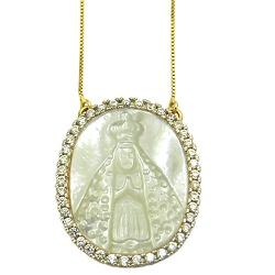 Gargantilha Nossa Senhora Aparecida em Ouro 18k co... - RDJ JÓIAS