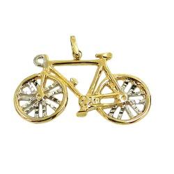 Pingente Bicicleta em Ouro 18K - J12701665 - RDJ JÓIAS