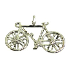 Pingente de Ciclismo em Ouro 18K Bicicleta - J1270... - RDJ JÓIAS