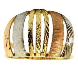 Anel Três Tons em Ouro 18K Feminino - J12701767 - RDJ JÓIAS