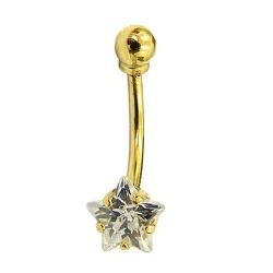 Piercing de Ouro 18K com Estrela de Zircônia - J12... - RDJ JÓIAS