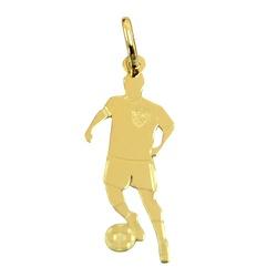 Pingente Jogador de Futebol em Ouro 18K - J145003... - RDJ JÓIAS