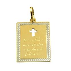 Pingente O Senhor é meu Pastor Ouro 18K - J1450068... - RDJ JÓIAS