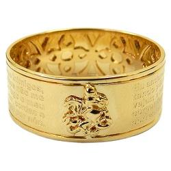 Anel Oração de São Jorge em Ouro 18K - J14500436 - RDJ JÓIAS