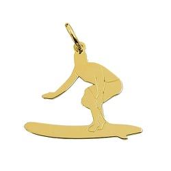 Pingente Surfista de Ouro 18K 750 - J14500492 - RDJ JÓIAS