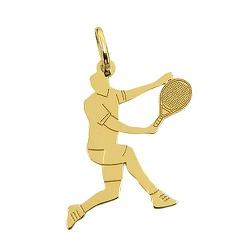 Pingente em Ouro 18K Jogador de Tênis - J14500495 - RDJ JÓIAS