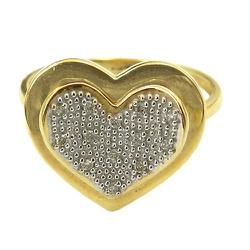Anel Coração em Ouro 18K cravejado com 13 Brilhant... - RDJ JÓIAS