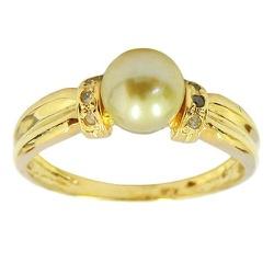 Anéis de Ouro com Pérola e Brilhantes - J15100205... - RDJ JÓIAS
