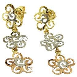 Brincos de Flores em Ouro 18K - J15300147 - RDJ JÓIAS