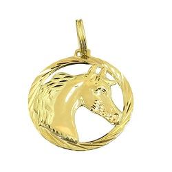 Pingente Unissex de Cavalo em Ouro 18K - J1640001 - RDJ JÓIAS