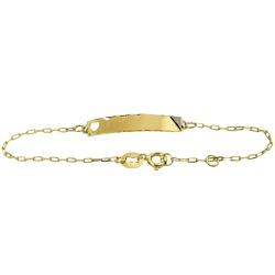 Pulseirinha Cartier Infantil com Plaquinha Ouro 18... - RDJ JÓIAS